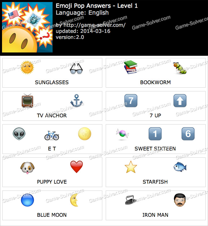 emoji pop answers game solver