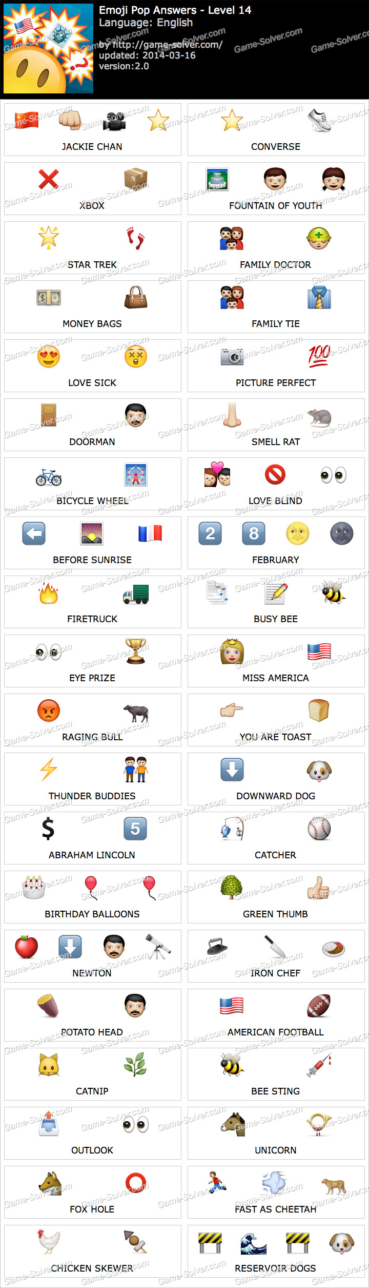 Emoji Words Answers and Cheats Level 101 - One Clue Answer