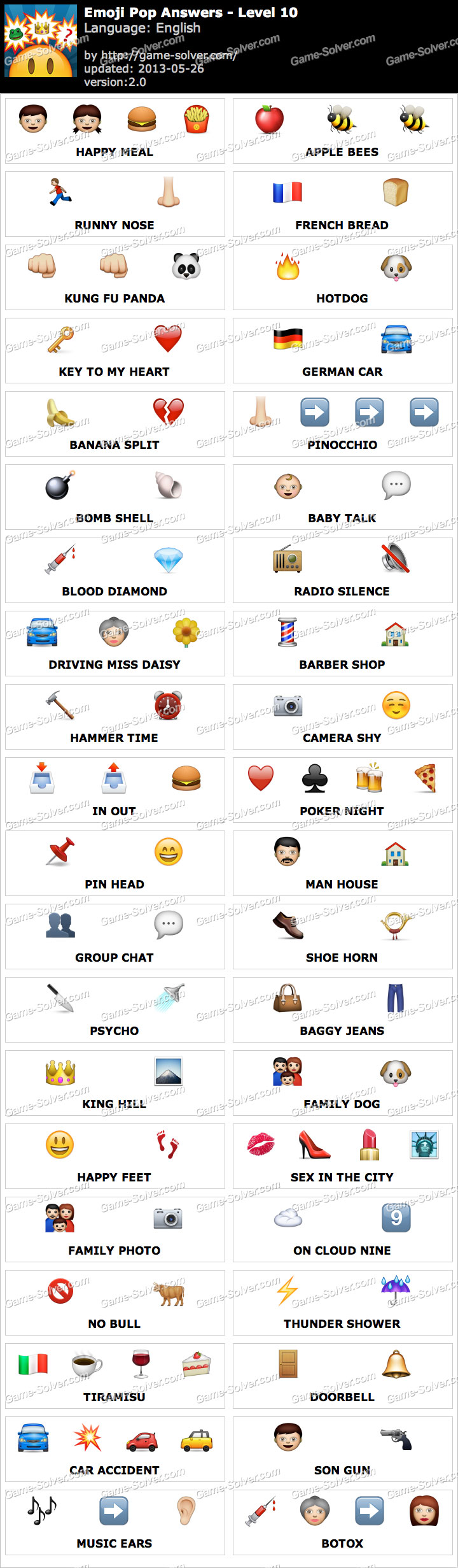 Emoji Pop Level 6 Answers