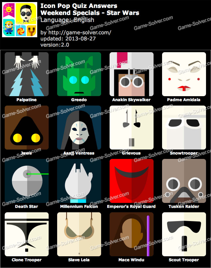 Icon Pop Quiz Weekend Specials Star Wars