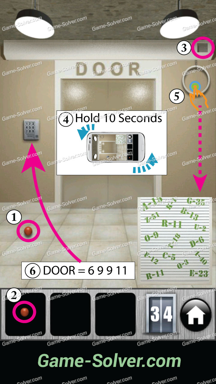 100 Doors 2013 Level 34 Game Solver