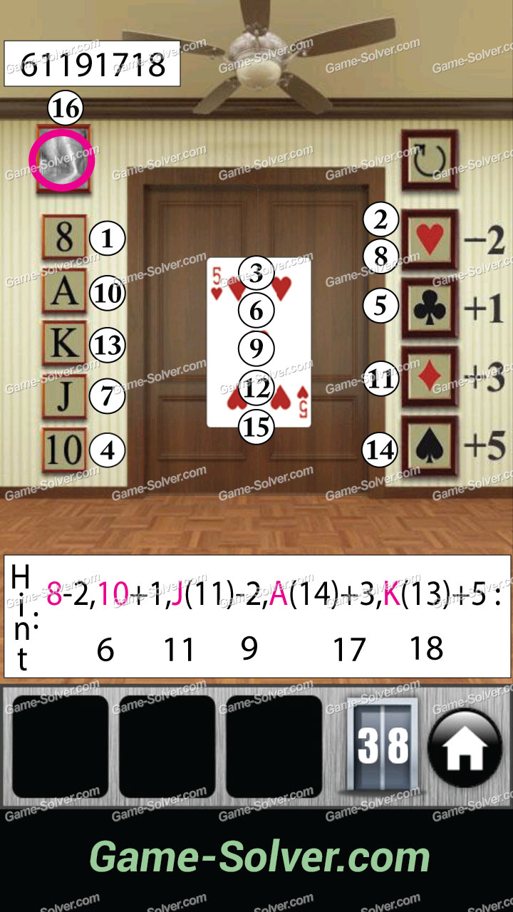 100 doors 2013 level 38 game solver