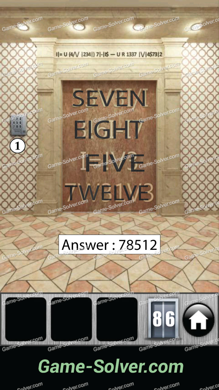 100 Doors 2013 Level 86 Game Solver