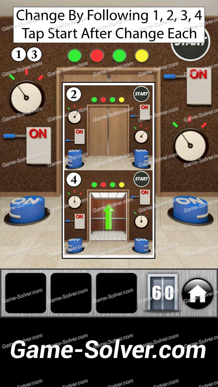 100 Doors Runaway Level 60 Game Solver