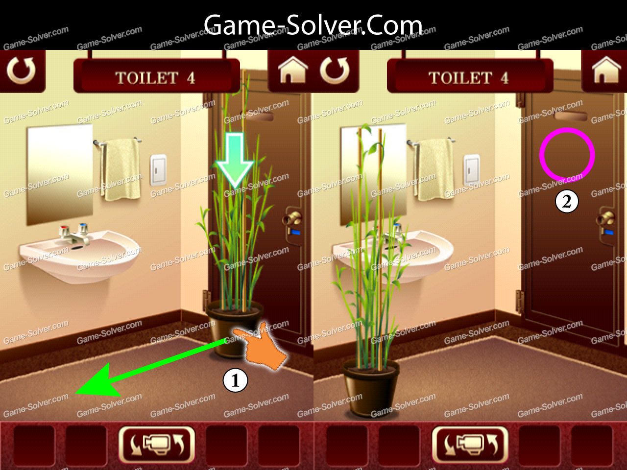 100 Toilets Level 4 Game Solver