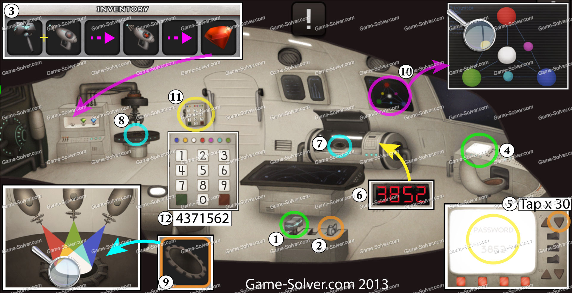 Doors and Rooms 6-10 & Doors and Rooms 6-10 - Game Solver