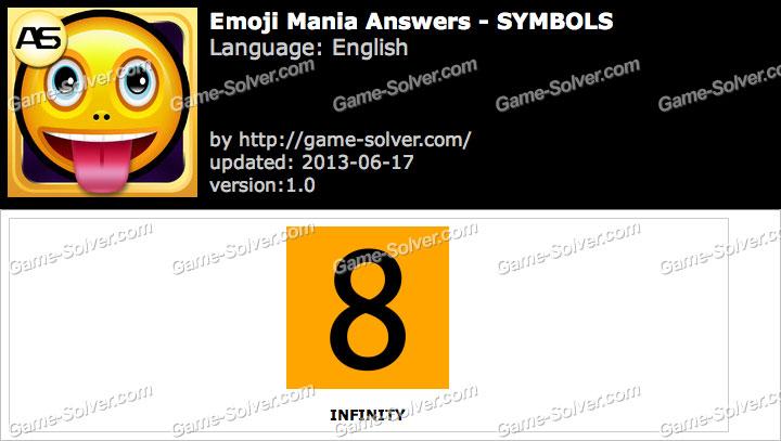 Emoji Mania Symbols Answers Game Solver