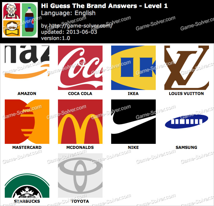 Logo Quiz Answers Level 8 Android App Hi Guess the Brand Ans...