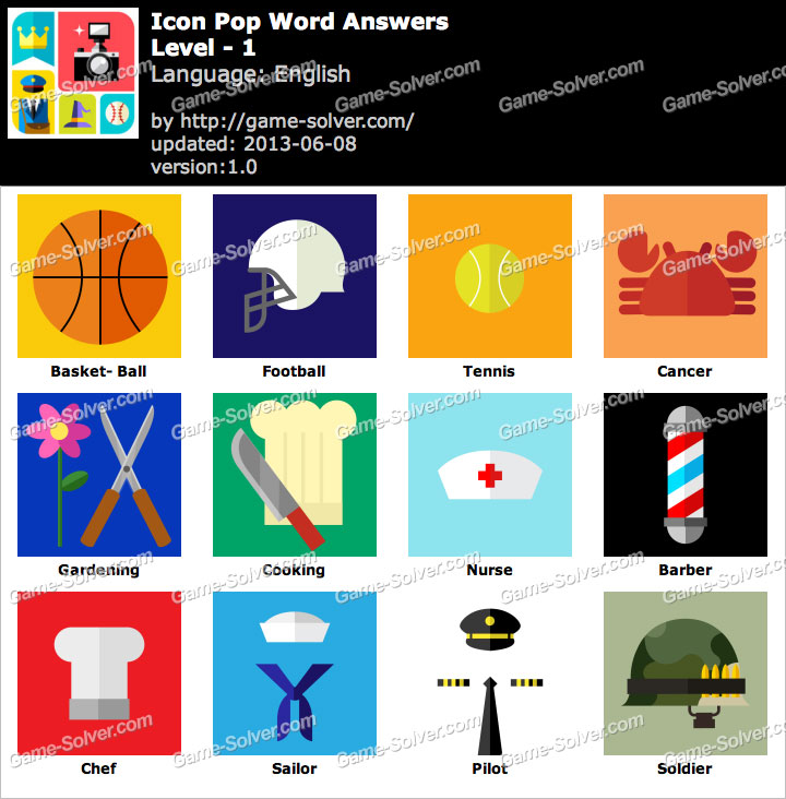 Icon Pop Word Answers - Game Solver