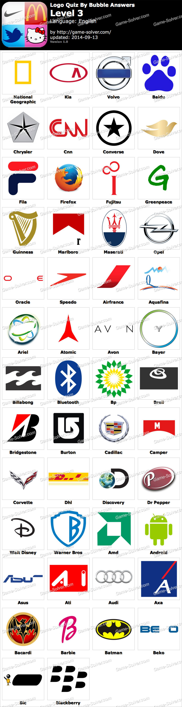 logo quiz guess the brand level 3