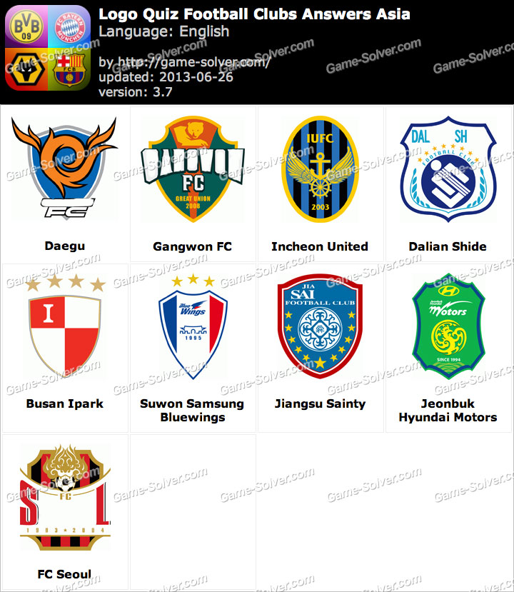 Logo Quiz Football Clubs Answers Asia