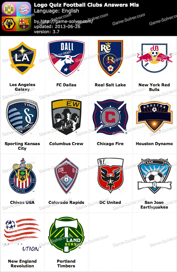 logo quiz football clubs answers mls game solver