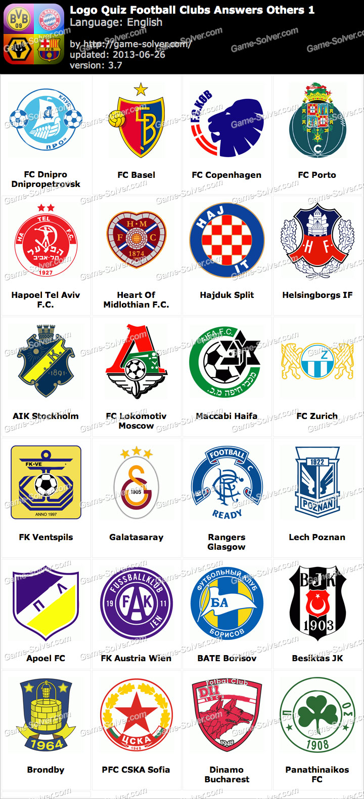 Logo Quiz Football Clubs Answers Others 1