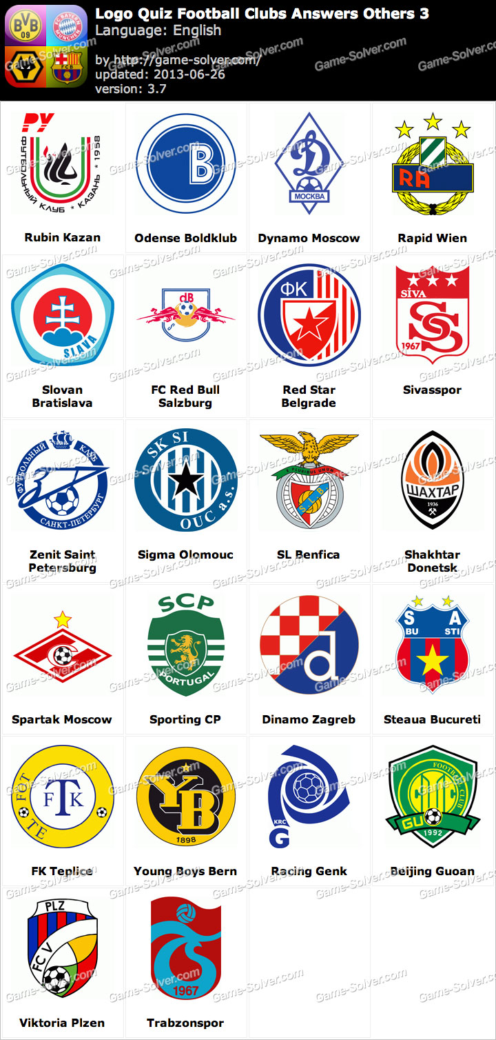 Logo Quiz Football Clubs Answers Others 3 - Game Solver