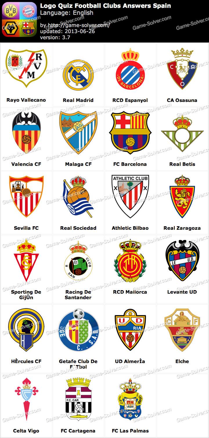 Popolare Logo Quiz Football Clubs Answers Spain - Game Solver EI41