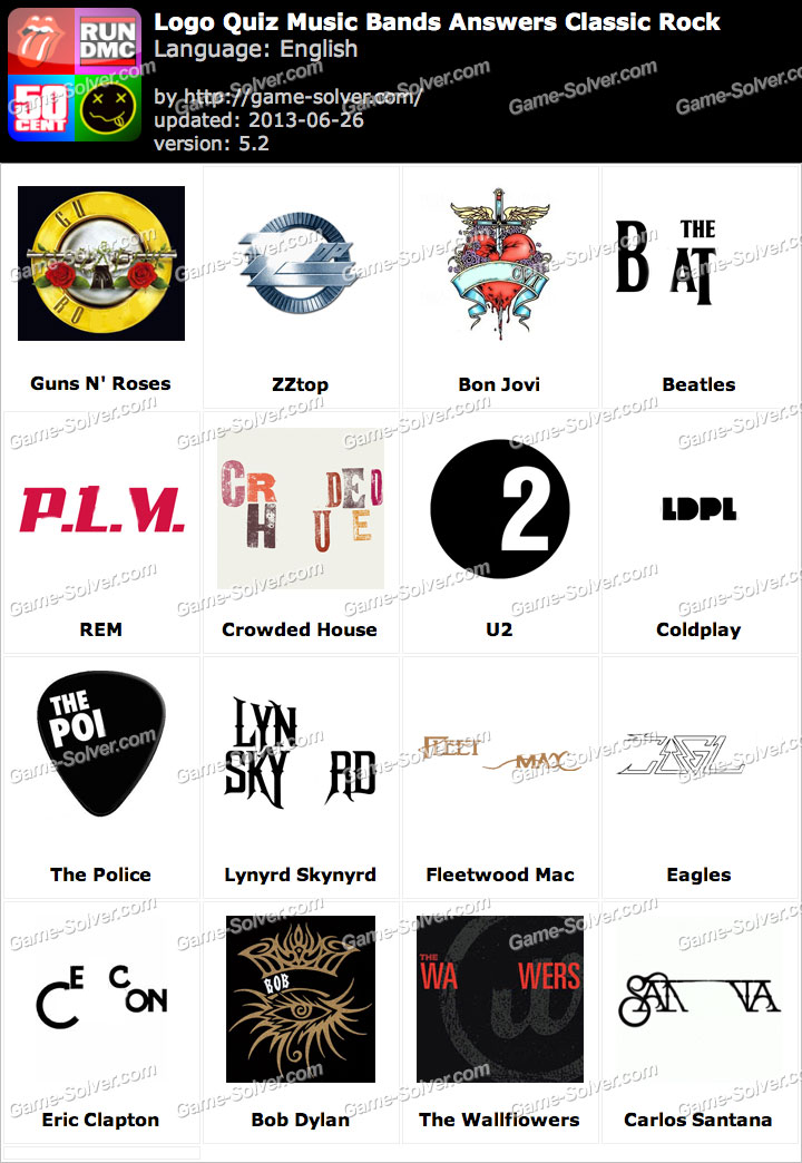 Logo Pics Answers Band Logos Logo Quiz Music Bands Answers