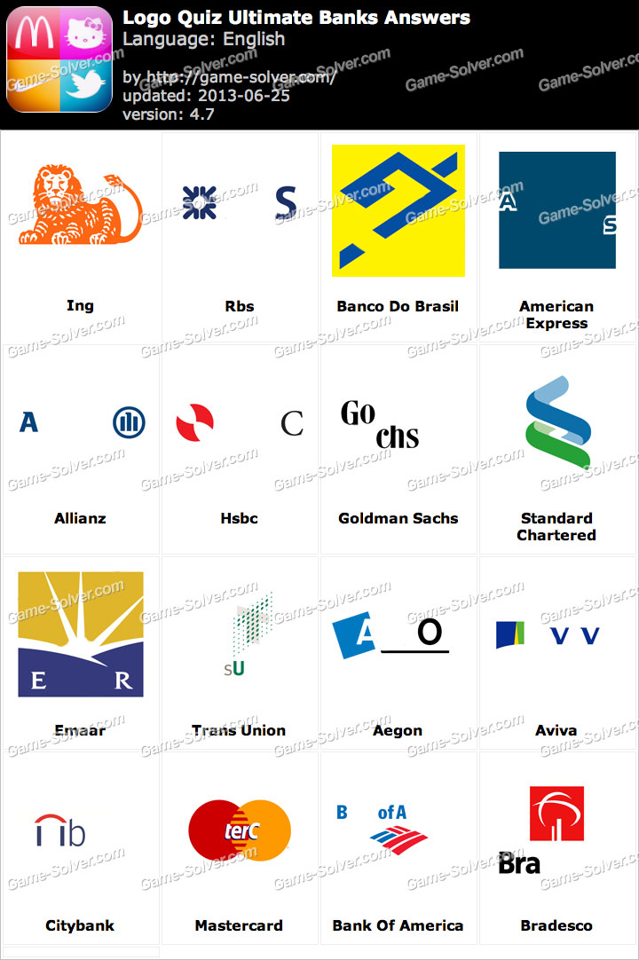 Logo Quiz Ultimate Banks Answers