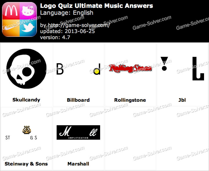 Logo Quiz Ultimate Music Answers - Game Solver
