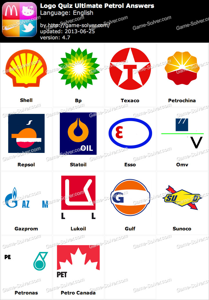 Logo Quiz Ultimate Petrol Answers - Game Solver