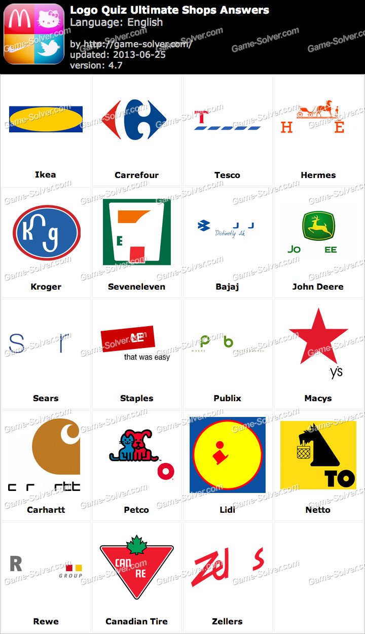 Logo Quiz Ultimate Shops Answers