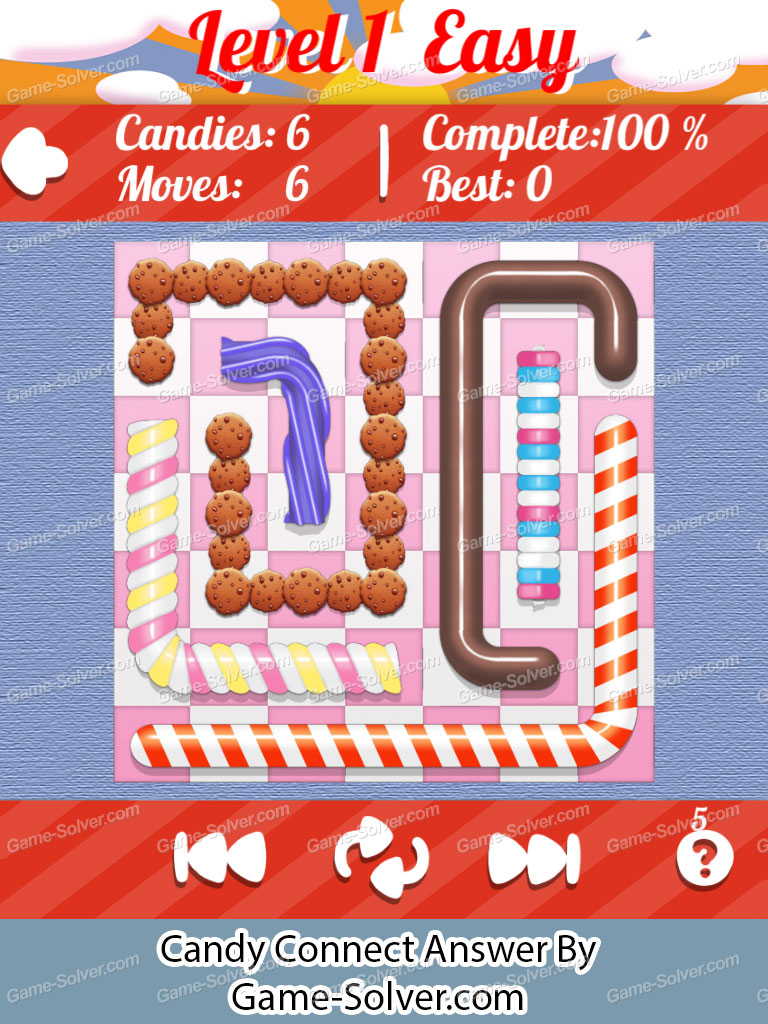 Candy Connect 7x7 Easy Level 1