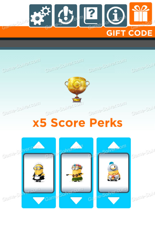 Despicable Me Gift Code x5 Score Perks