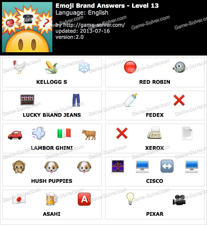 Emoji Brand Level 13 Game Solver
