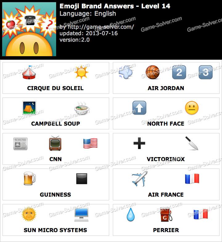 Emoji Brand Level 14 - Game Solver