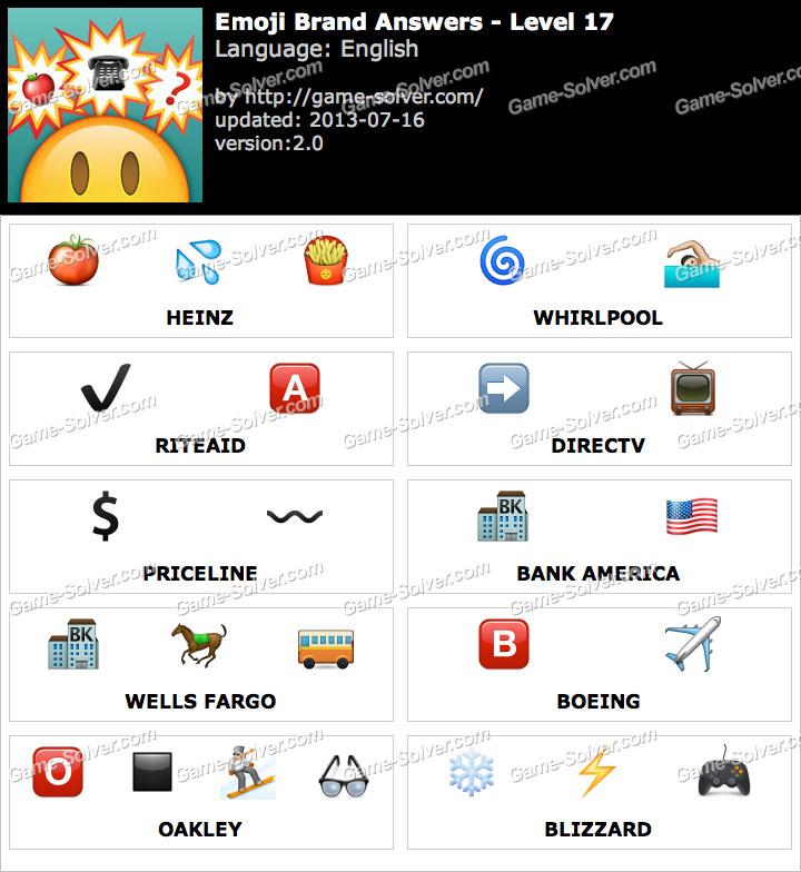 Emoji Brand Level 17 - Game Solver