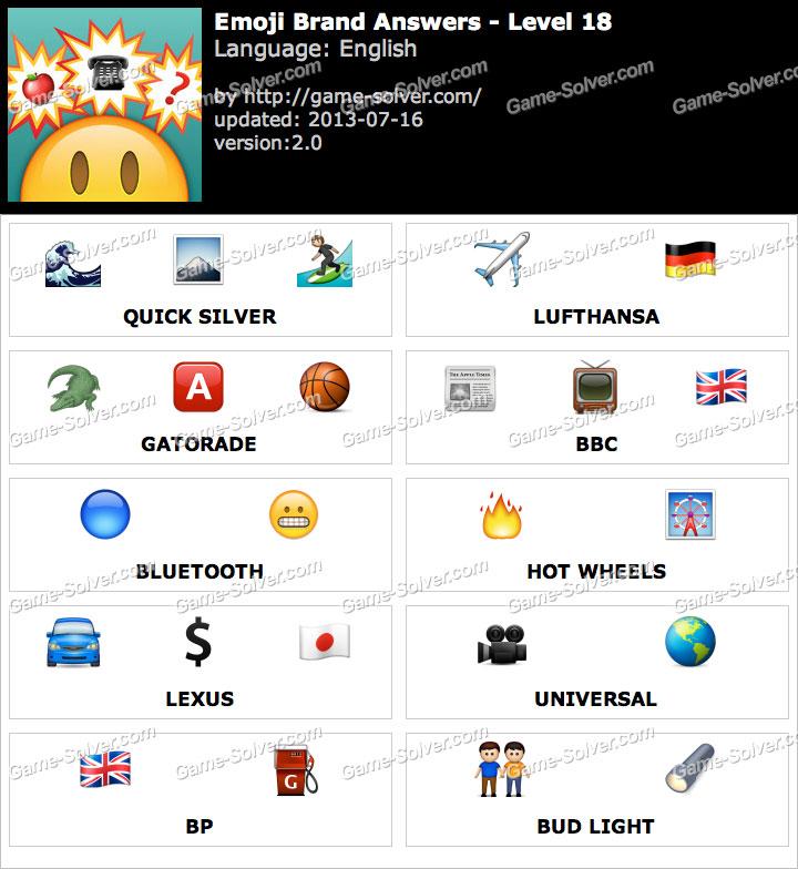 Emoji Brand Level 18 - Game Solver