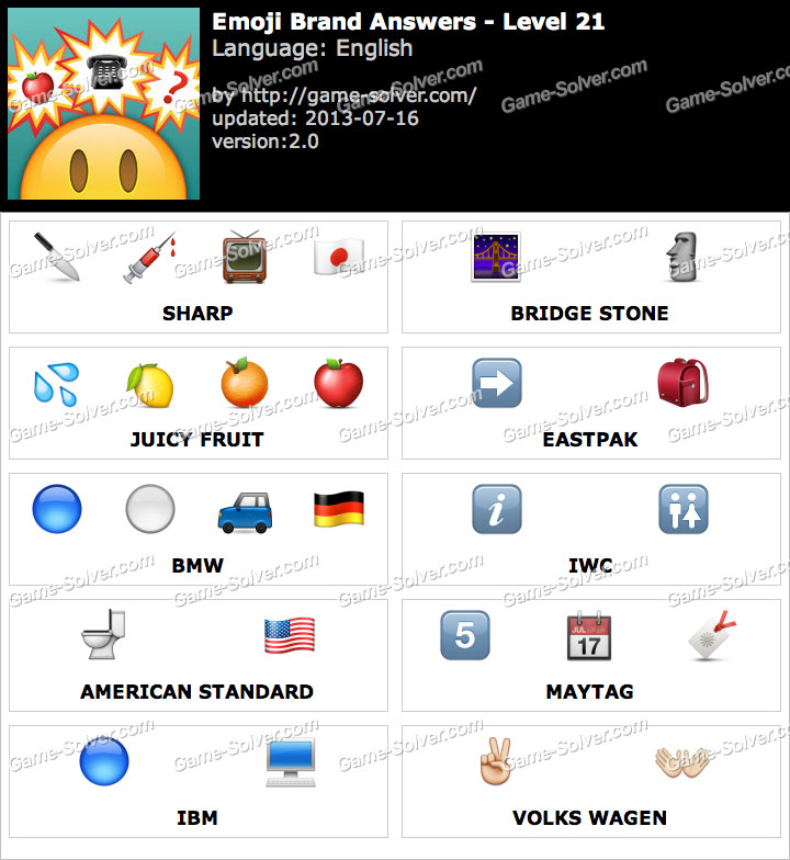 on wholesale new specials stable quality Emoji Brand Level 21 - Game Solver