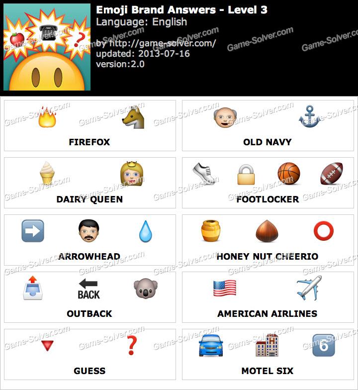 Emoji brand level 3 game solver