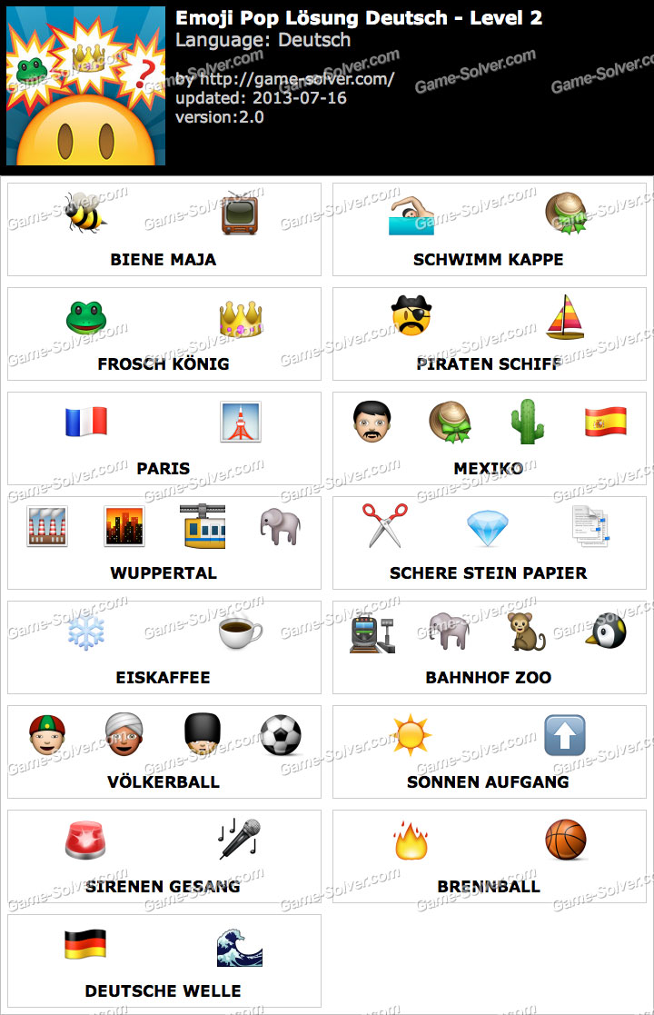 Emoji Pop Deutsch Level 2