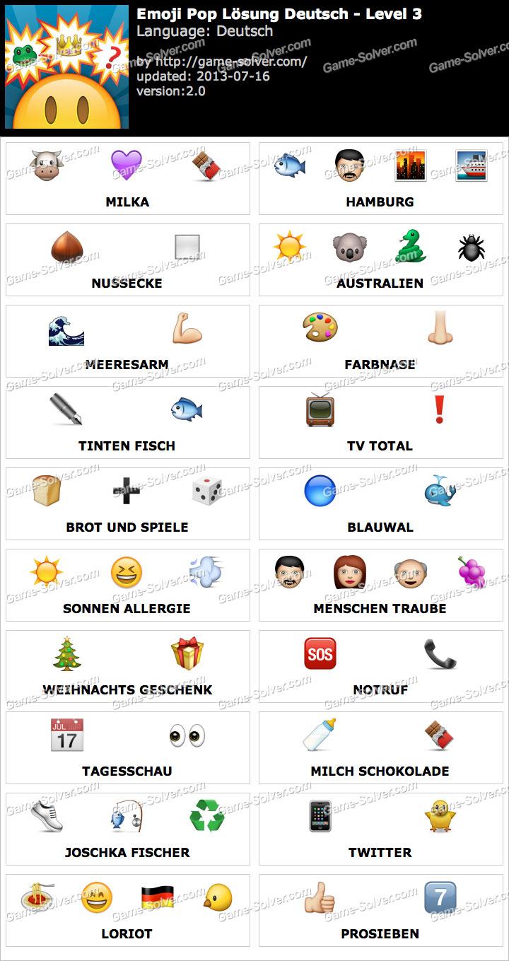 Emoji Movie Level 3 Emoji Pop Deutsch Level 3