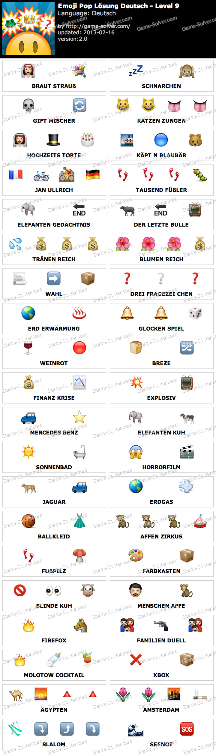 Emoji Pop Deutsch Level 9