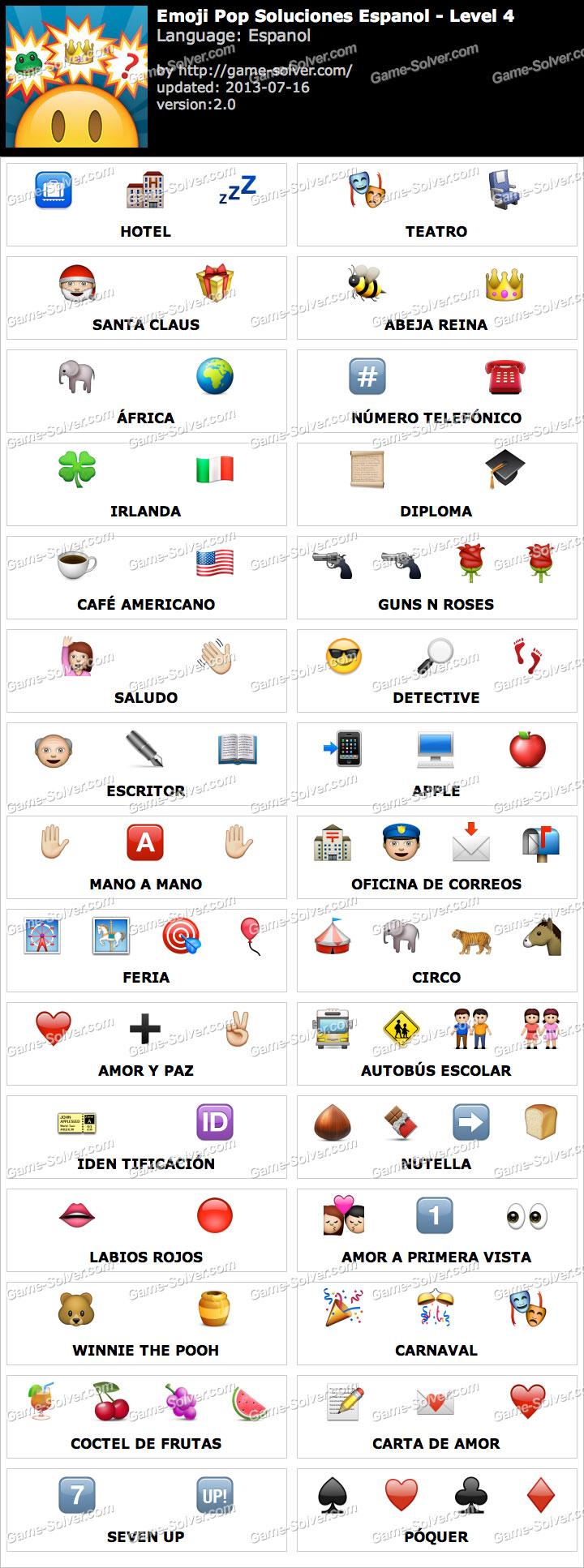 emoji pop nivel 4 game solver