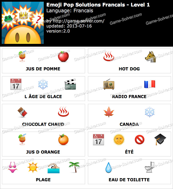 Emoji Pop Niveau 1