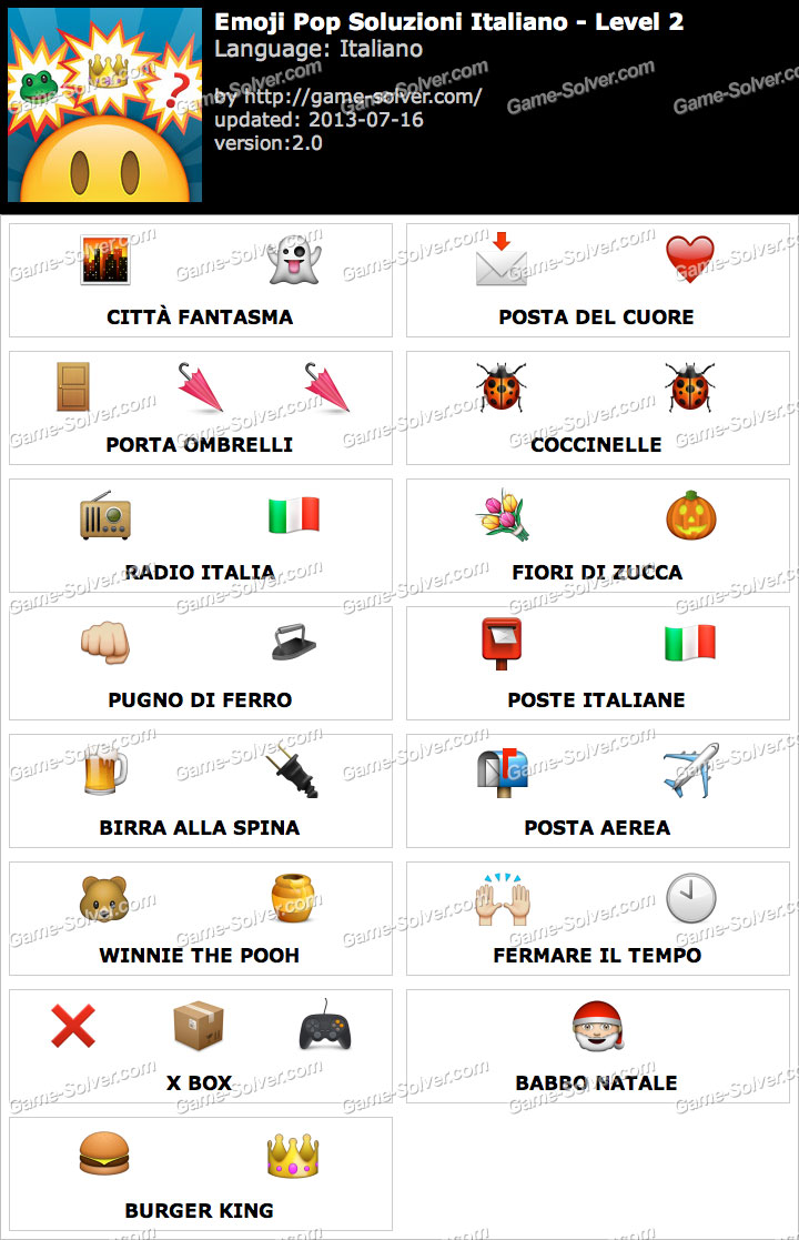 Emoji Pop Livello 2 Game Solver
