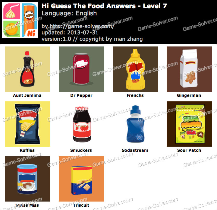 Hi Guess the Food Level 7 - Game Solver