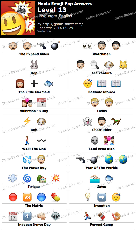 Movie Emoji Pop Level 13