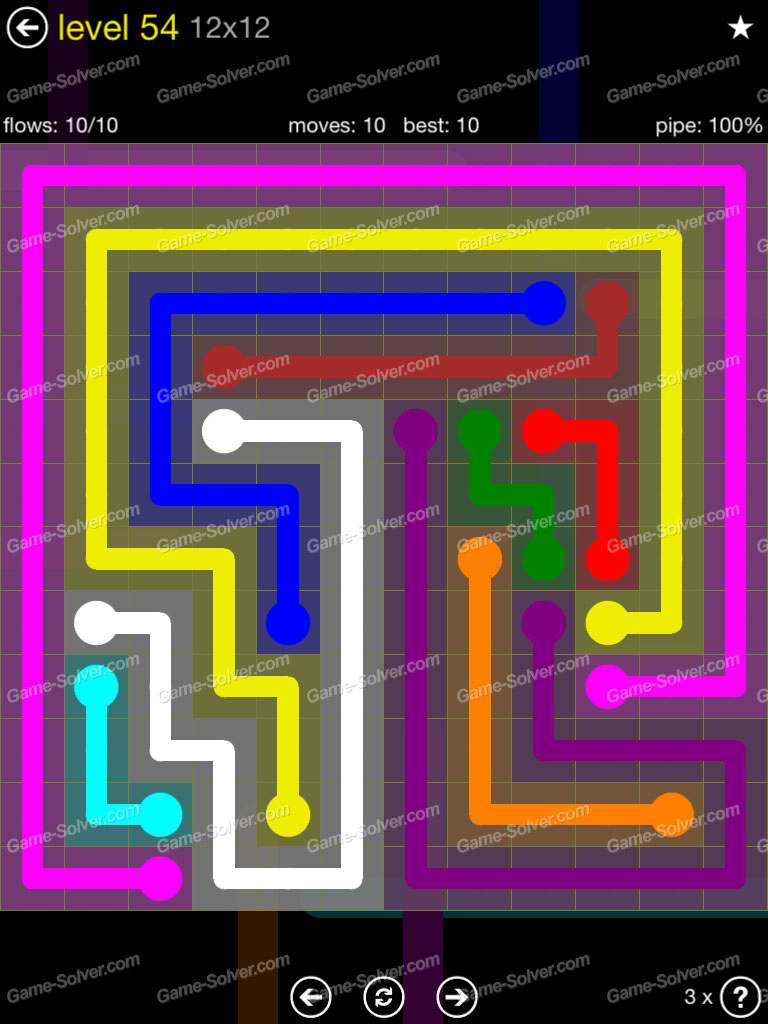 Flow 12mania Pack Set 12x12 Level 3: Flow 12×12 Mania Level 54