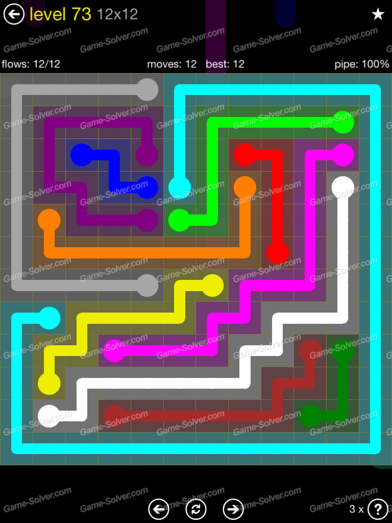 Flow 12mania Pack Set 12x12 Level 3: Flow 12×12 Mania Level 73