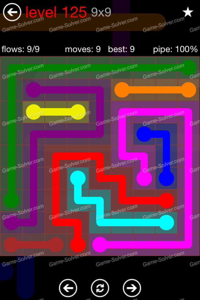 Flow 99 Mania Level 125 Game Solver
