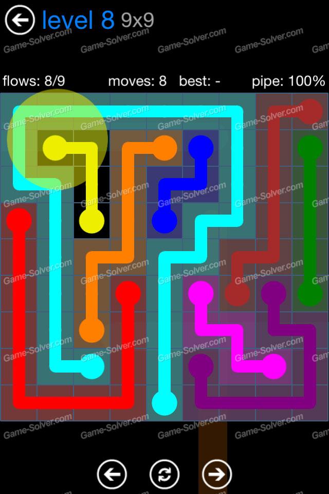 Flow Bonus Pack 9x9 Level 8 Game Solver