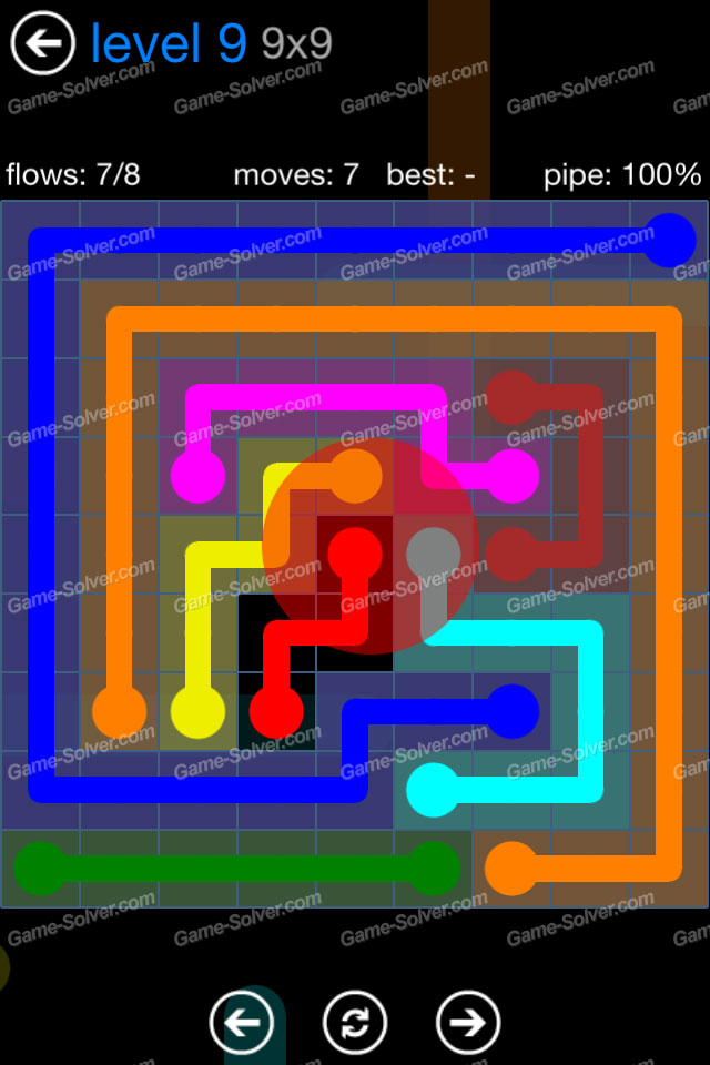 Flow Bonus Pack 9×9 Level 9 - Game Solver