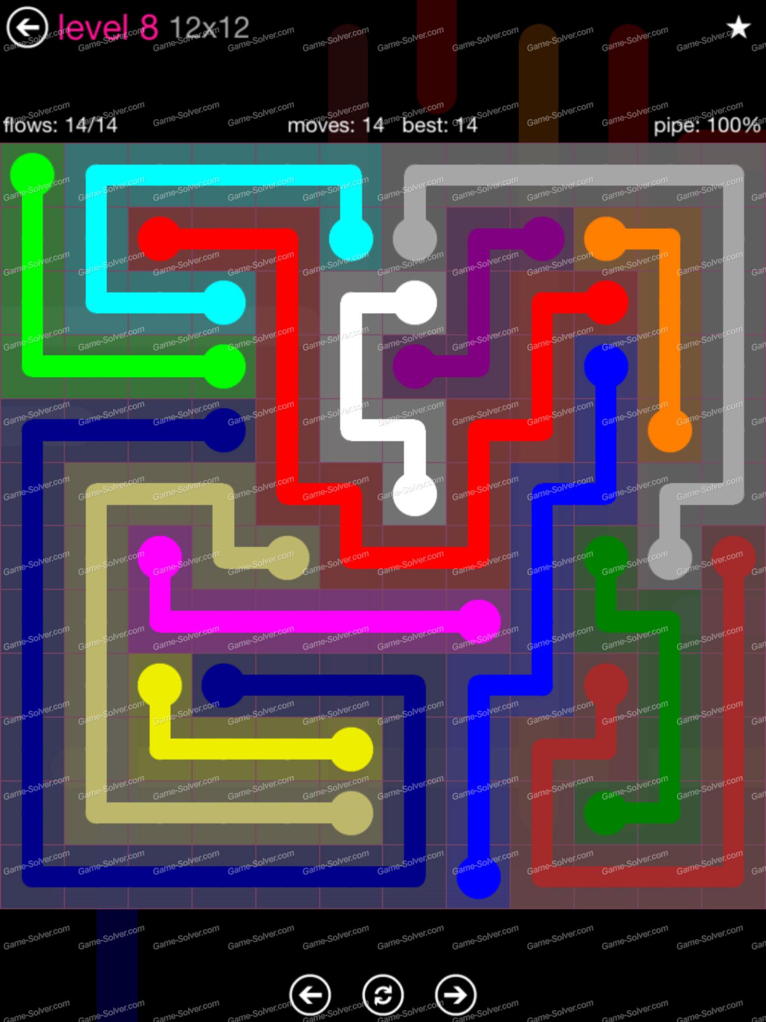 flow pink pack 12 12 level 8 game solver. Black Bedroom Furniture Sets. Home Design Ideas