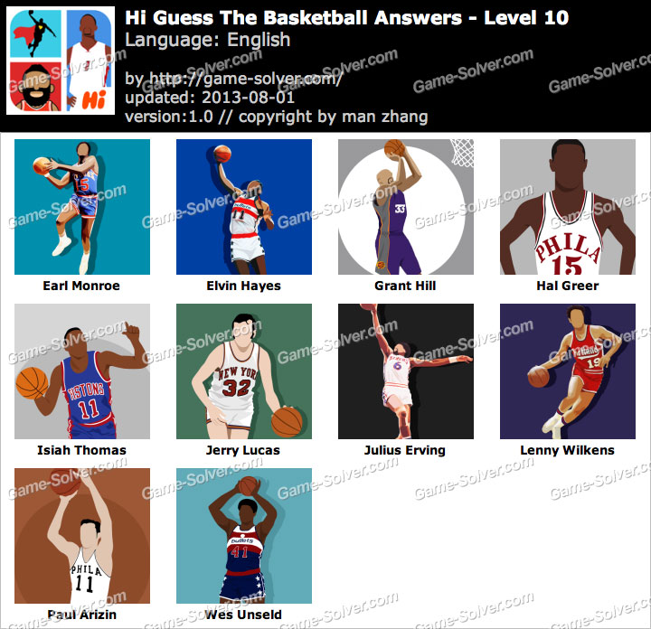 Hi Guess the Basketball Level 10