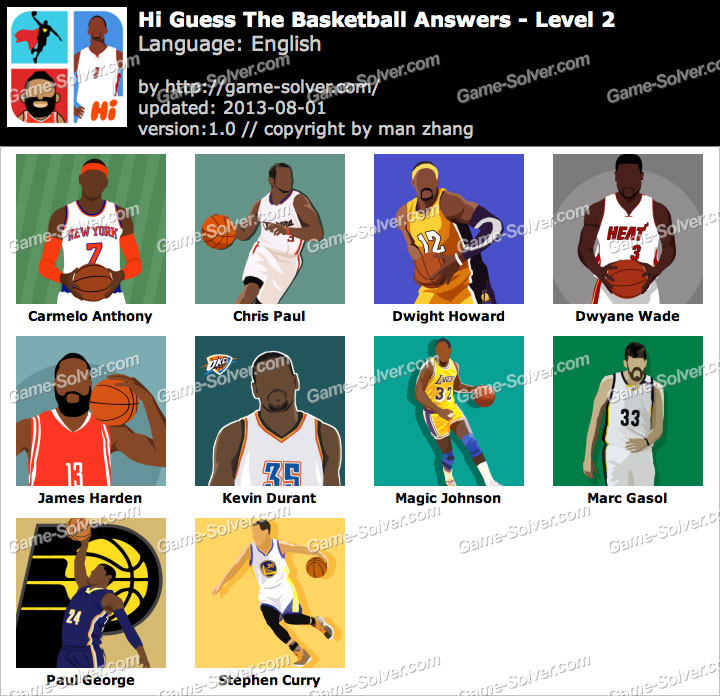 Logos Quiz Answers Level 7 Hi Guess the Basketbal...