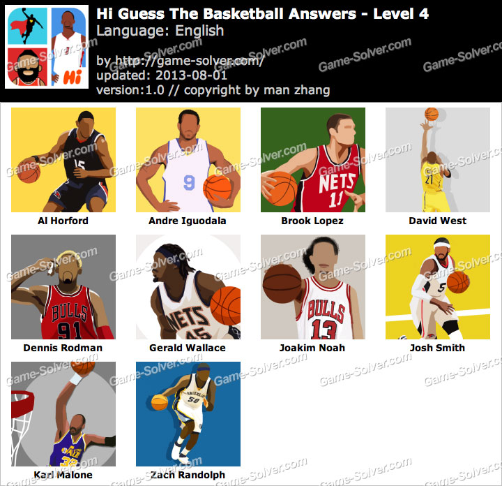 Hi Guess the Basketball Level 4
