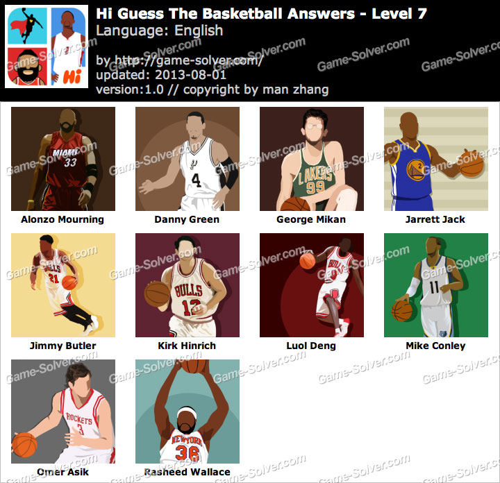 Hi Guess the Basketball Level 7